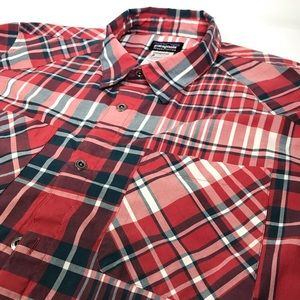 Patagonia Mens Shirt Large Plaid Organic Cotton